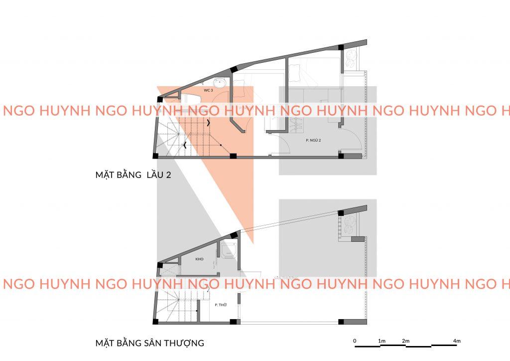 Hình ảnh thi công nhà phố lầu 2 và sân thượng nhà chị Linh Bình Thạnh