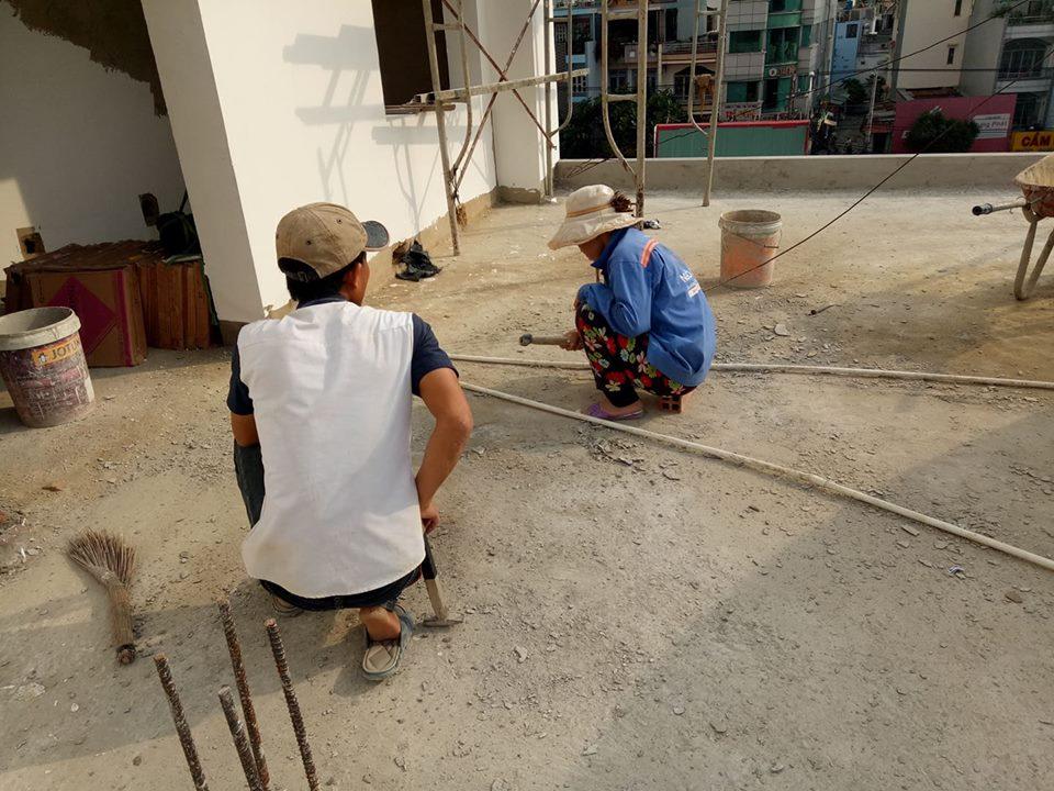 thi công nhà phố quận Tân Phú nhà cô Thao 33