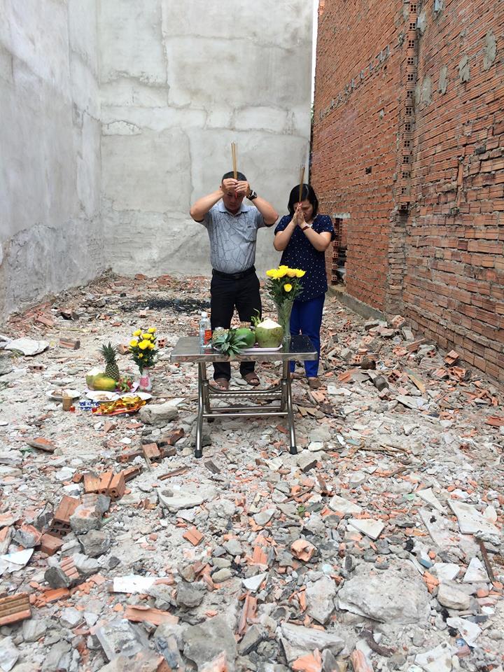 Cúng động thổ công trình nhà ở anh Dự quận Bình Thạnh
