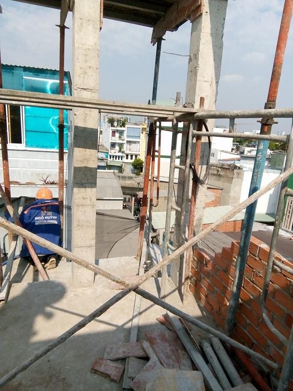 XD Ngô Huỳnh lắp thép nhà ở anh Trường Quận 6 04