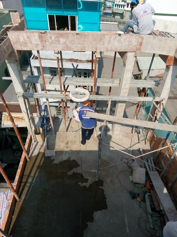 XD Ngô Huỳnh lắp thép nhà ở anh Trường Quận 6 03