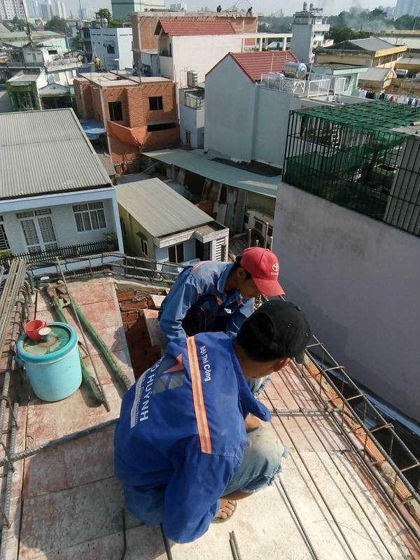 XD Ngô Huỳnh lắp thép nhà ở anh Trường Quận 6 01