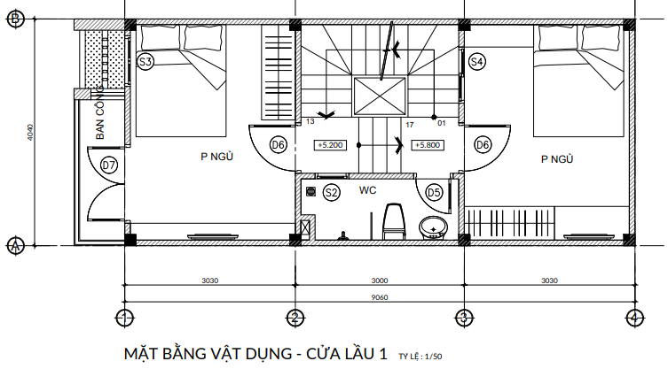 Thiết kế mặt bằng nhà ở quận Bình Tân