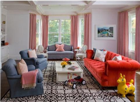 Cách phối màu ấn tượng trong thiết kế nội thất 09