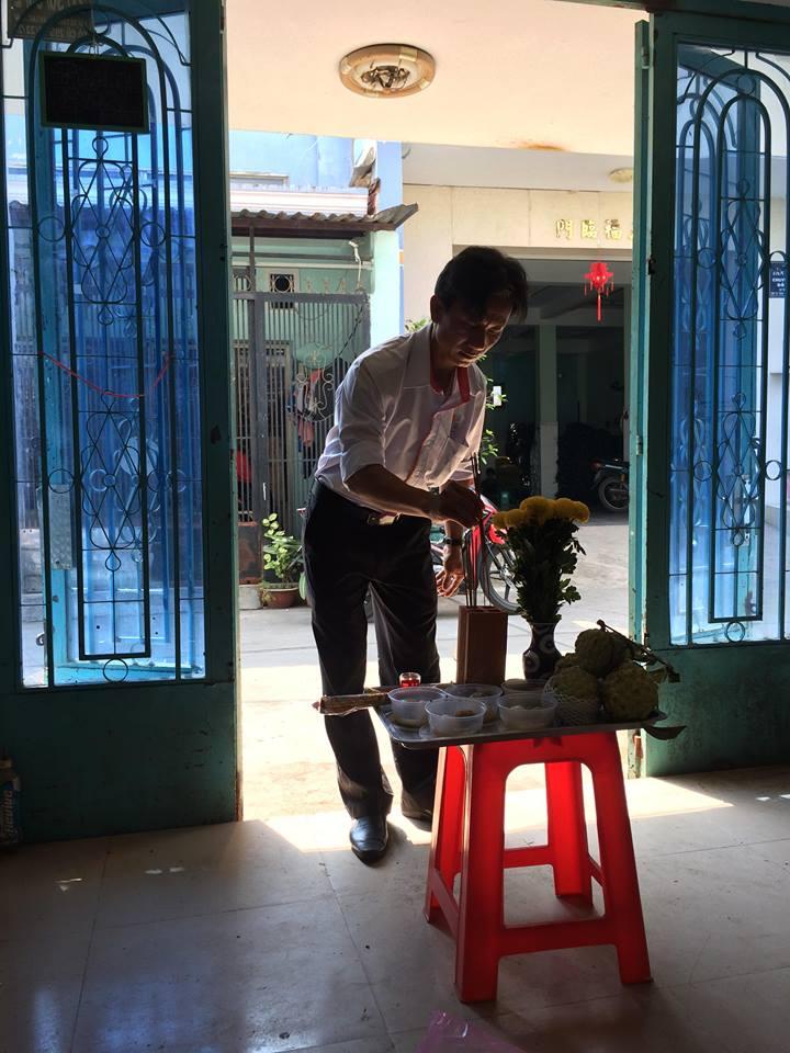 XD Ngô Huỳnh cúng đổng thộ khởi công công trình Bình Tân 03