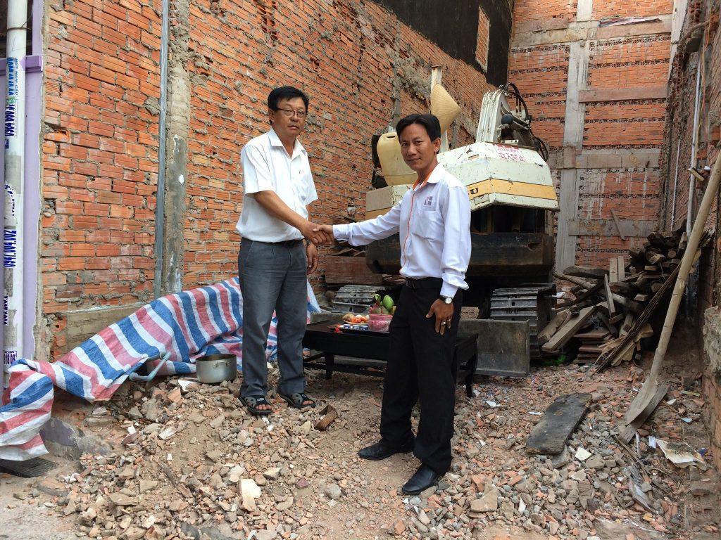 Cúng động thổ công trình nhà chú Vân quận Tân Bình