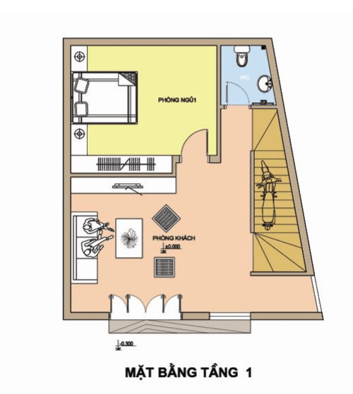 XD Ngô Huỳnh tư vấn thiết kế xây nhà trên đất méo 02