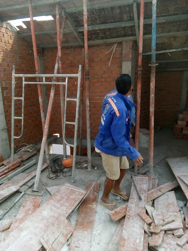 XD Ngô Huỳn xây tường nhà anh Trường Quận 6 04