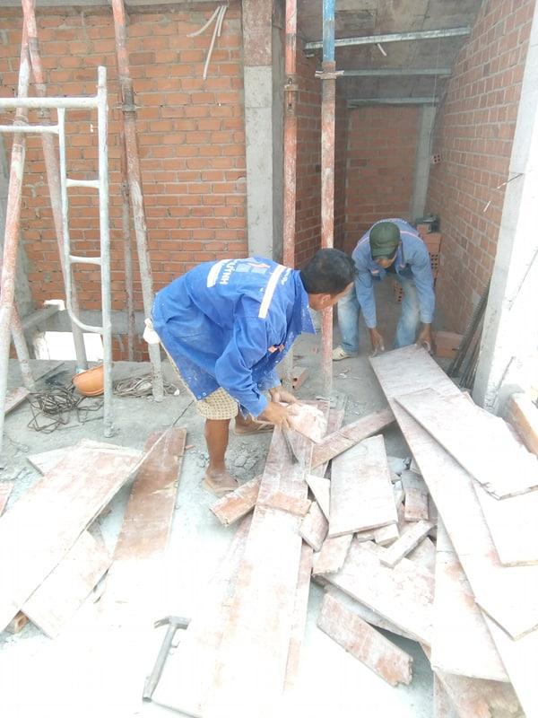 XD Ngô Huỳn xây tường nhà anh Trường Quận 6 05