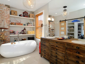 Thiết kế nhà vệ sinh mang phong cách hiện đại, đem lại nhiều tiện nghi cho gia chủ