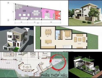 Làm sao để xây dựng nhà phố đẹp trên mảnh đất méo, thóp hậu