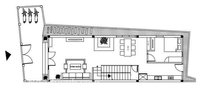 Làm sao để xây dựng nhà phố đẹp trên mảnh đất méo, thóp hậu (2)