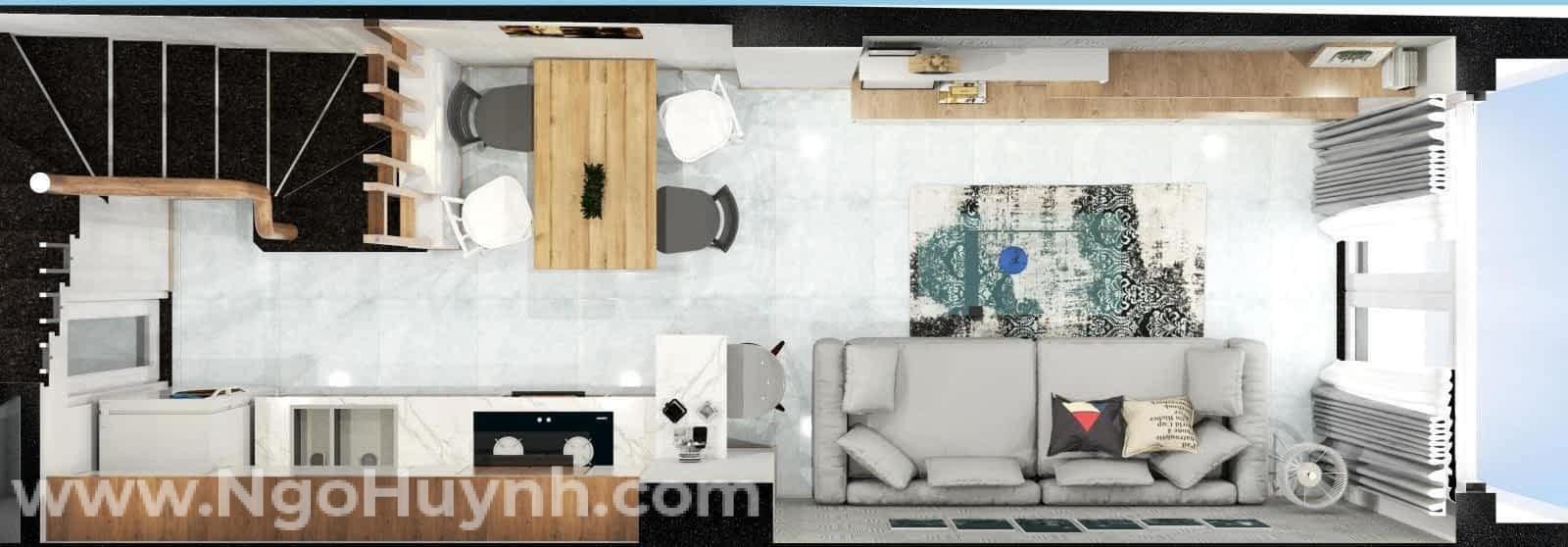 Mách bạn cách thiết kế nhà phố nhỏ hẹp sao cho đẹp, hiện đại (3)
