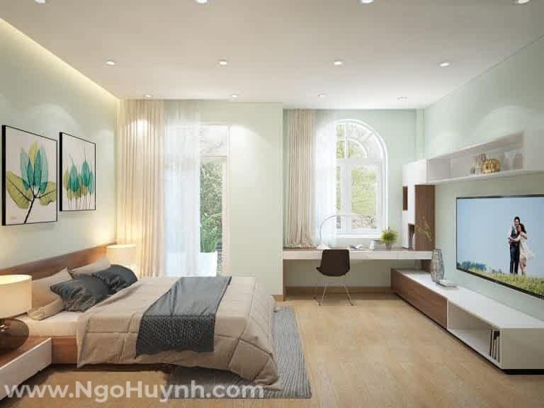 Nhà mái Thái 1 trệt 2 lầu phong cách tân cổ điển (2)
