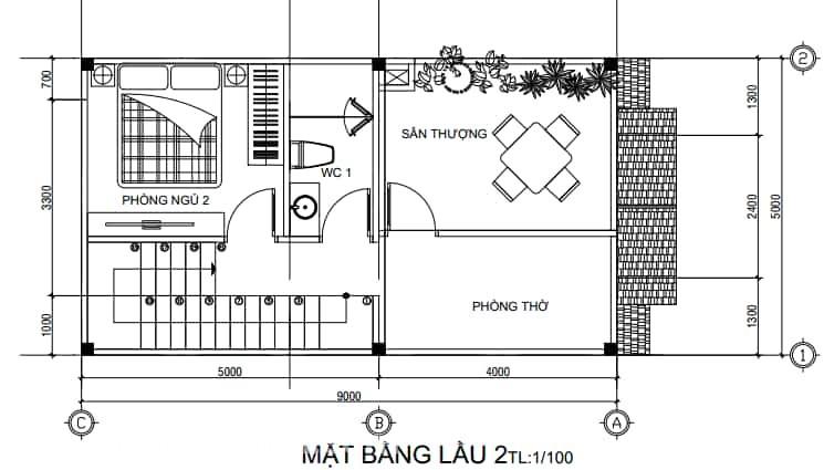 Nhà mái Thái 1 trệt 2 lầu phong cách tân cổ điển (3)