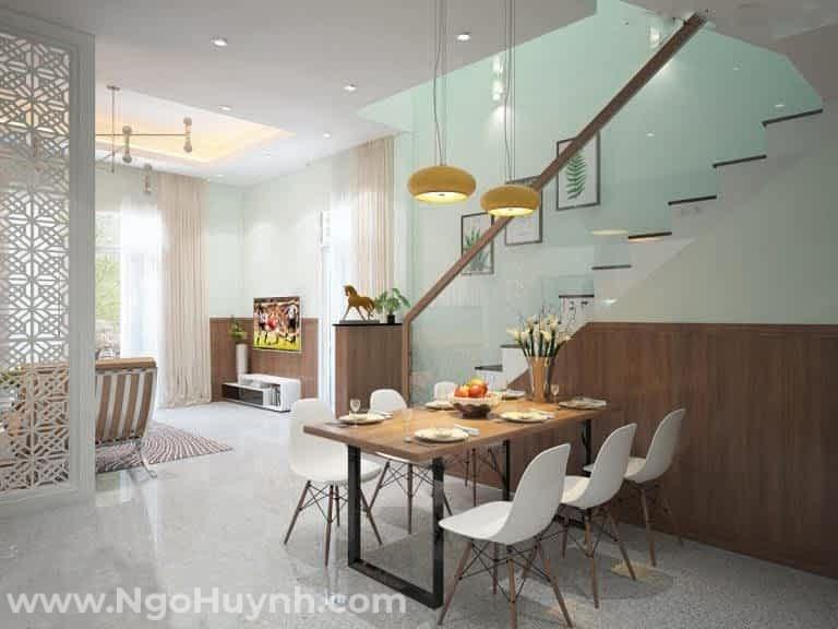 Nhà mái Thái 1 trệt 2 lầu phong cách tân cổ điển (5)