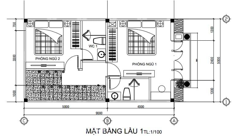Nhà mái Thái 1 trệt 2 lầu phong cách tân cổ điển (6)