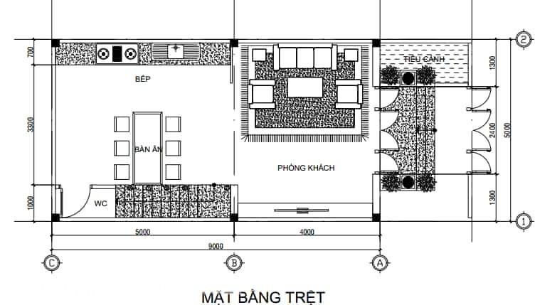 Nhà mái Thái 1 trệt 2 lầu phong cách tân cổ điển (7)