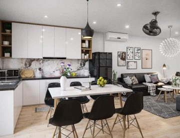 Thiết kế sao cho phong khách liền kề với phòng bếp cho đẹp, công năng hợp lý (3)